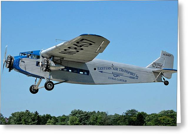 Ford Tri-motor Greeting Cards - Ford Tri-Motor at Oshkosh 2011 Greeting Card by Terence Burke