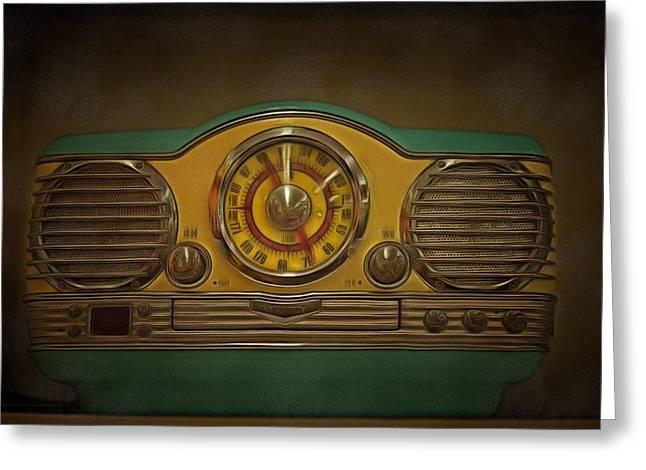 Vintage Painter Greeting Cards - Vintage AM FM Memorex Radio  Greeting Card by L Wright
