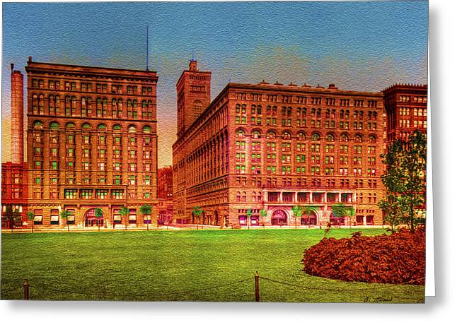 Americana Greeting Cards - Vintage Chicago - Auditorium and Annex - 1900 Greeting Card by Ben Thompson