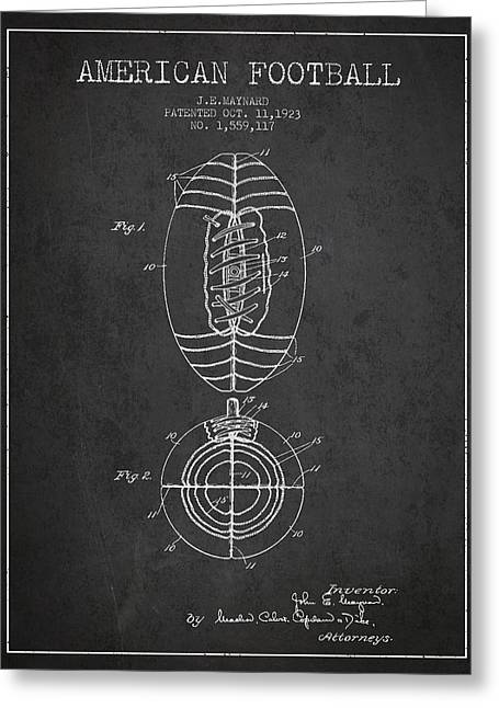Football Digital Art Greeting Cards - Vintage American Football Patent Drawing from 1923 Greeting Card by Aged Pixel