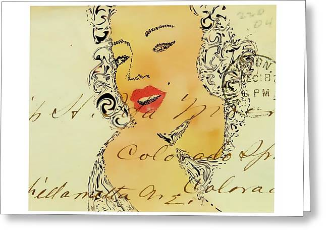 Marlyn Greeting Cards - Vintage Greeting Card by Anne Costello