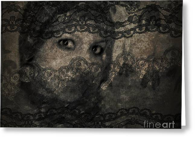 Wooden Stairs Greeting Cards - Vintage Arabic woman II Greeting Card by Safaa Samy