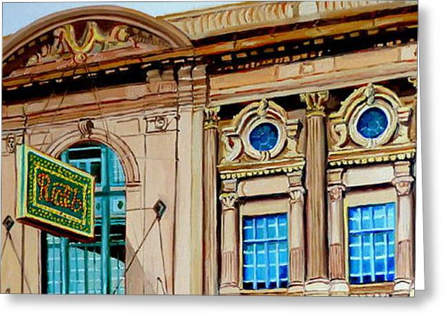 Movie Art Greeting Cards - Vintage Architecture-montreal Landmark Building-rialto Theatre Greeting Card by Carole Spandau
