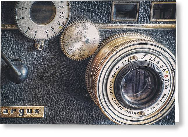 Aperture Greeting Cards - Vintage Argus C3 35mm Film Camera Greeting Card by Scott Norris