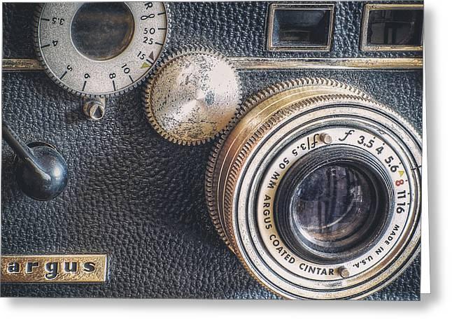 Vintage Argus C3 35mm Film Camera Greeting Card by Scott Norris