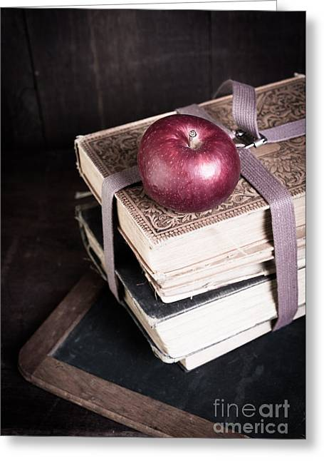 Vignette Greeting Cards - Vintage Back to School Greeting Card by Edward Fielding