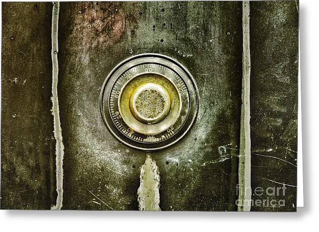 Valuable Photographs Greeting Cards - Vintage Bank Vault Greeting Card by Patricia Greer