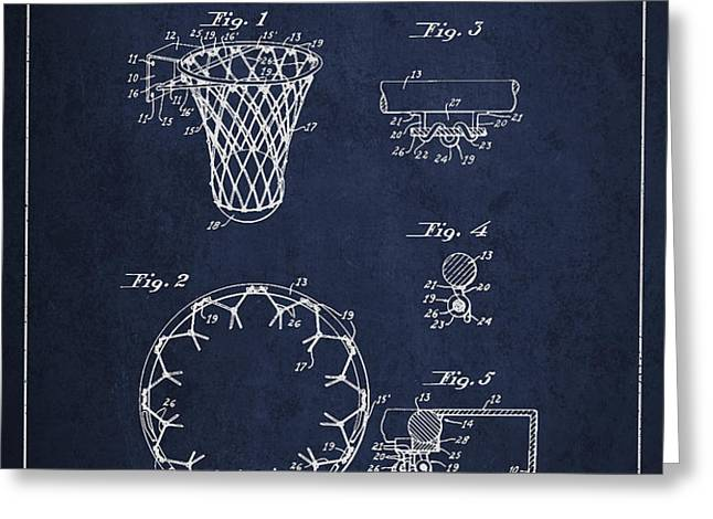 Vintage Basketball Goal patent from 1936 Greeting Card by Aged Pixel