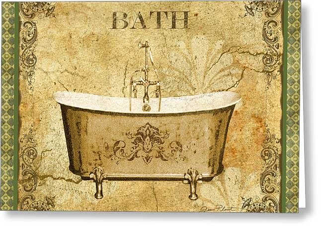 Recently Sold -  - Powder Greeting Cards - Vintage Bath Greeting Card by Jean Plout