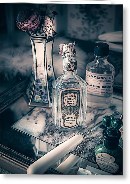 Built 1873 Greeting Cards - Vintage Beauty Items Greeting Card by Julie Palencia