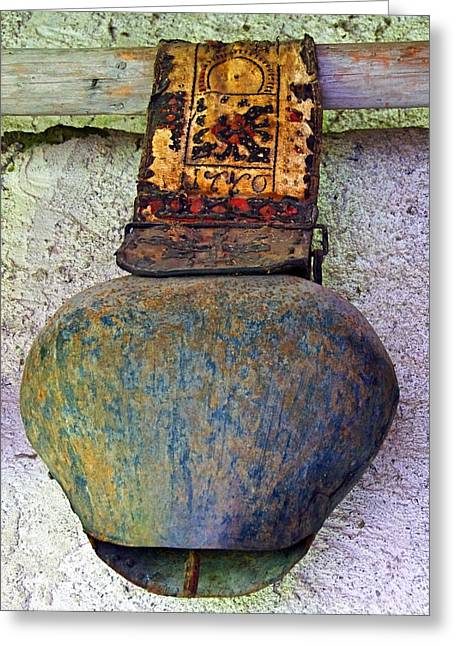 Straps Greeting Cards - Vintage Bell Greeting Card by Tara Grealish