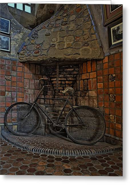 Vintage Bicycle Greeting Card by Susan Candelario