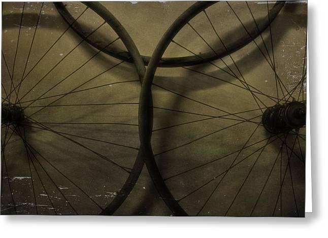 Vintage Bicycle Greeting Cards - Vintage Bicycle Tires Greeting Card by Dan Sproul