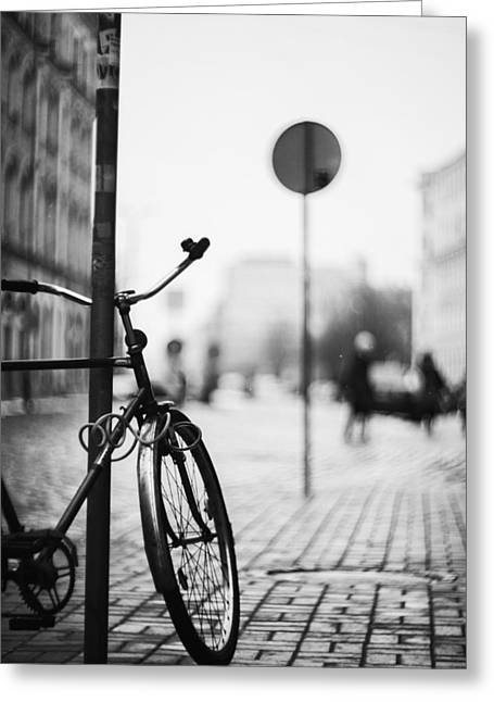 Recently Sold -  - City Lights Greeting Cards - Vintage Bicycle Greeting Card by Vital Pica