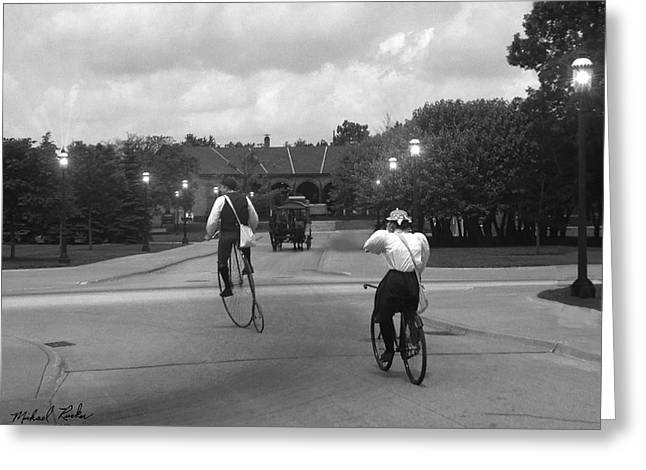 Cleves Greeting Cards - Vintage Bicycles  Greeting Card by Michael Rucker