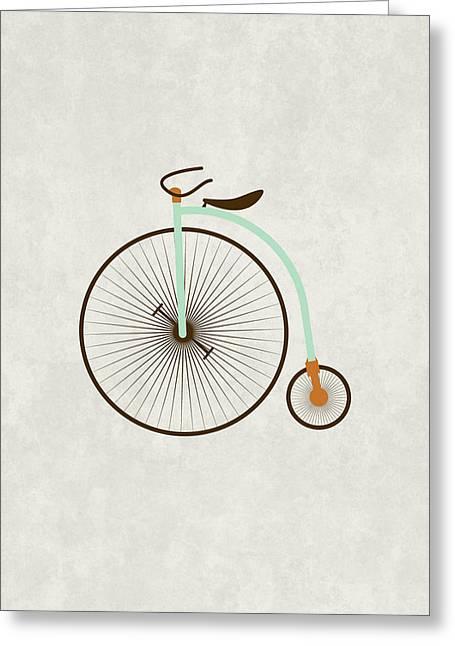 Vintage Bike Greeting Cards - Vintage Bike Greeting Card by Sara Habecker