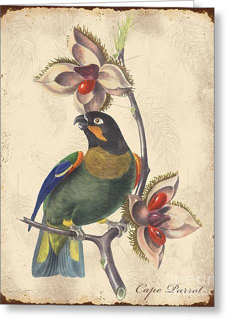 Nature Study Digital Greeting Cards - Vintage Bird Study-G Greeting Card by Jean Plout