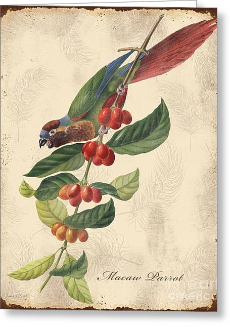 Nature Study Digital Art Greeting Cards - Vintage Bird Study-H Greeting Card by Jean Plout