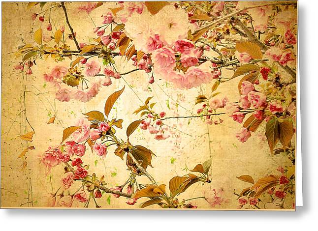 Vintage Blossom Greeting Card by Jessica Jenney