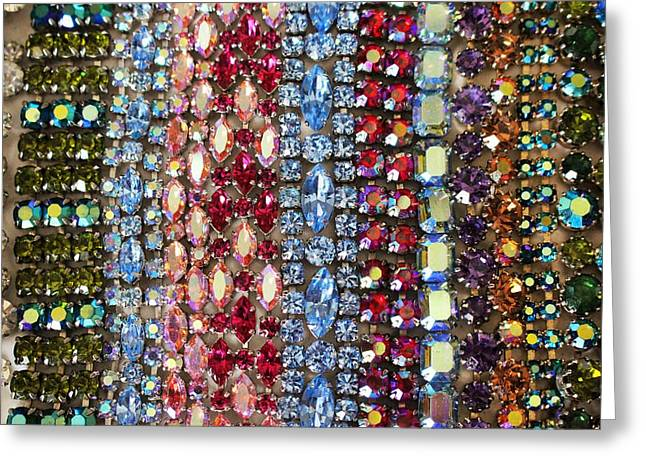 Sapphire Jewelry Greeting Cards - Vintage Bracelets Greeting Card by Peggy Davis