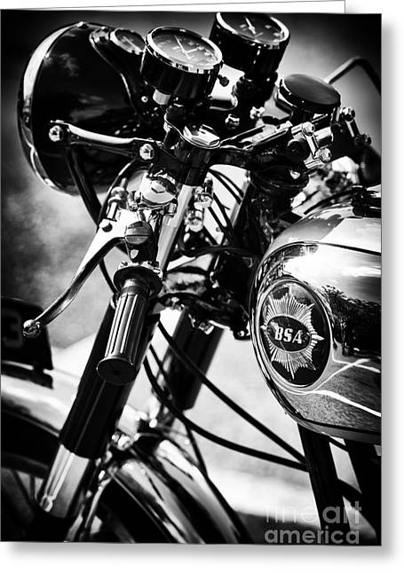 British Culture Greeting Cards - Vintage BSA Goldstar Greeting Card by Tim Gainey