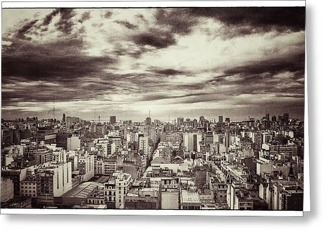 Buenos Aires Gifts Greeting Cards - Vintage Buenos Aires Panorama Greeting Card by For Ninety One Days