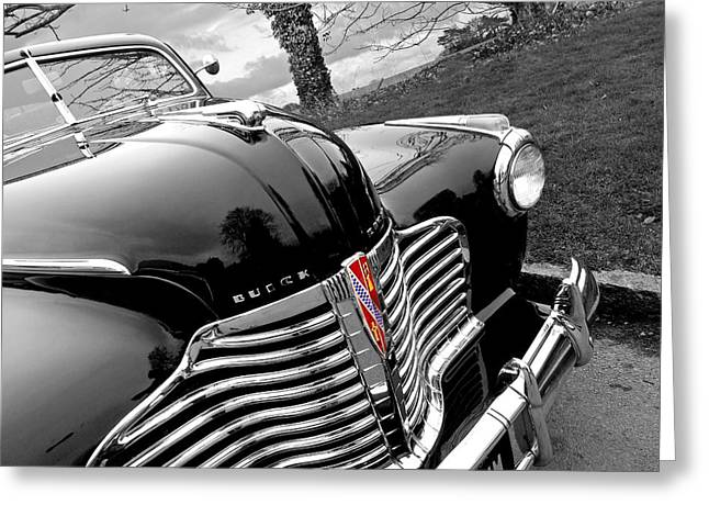 Powerful Car Greeting Cards - Vintage Buick 8 Greeting Card by Gill Billington