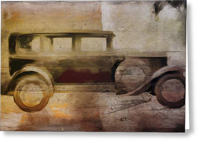 Runner Boards Greeting Cards - Vintage Buick Greeting Card by David Ridley