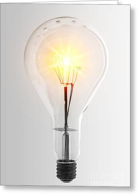 Component Greeting Cards - Vintage Bulb Greeting Card by Carlos Caetano