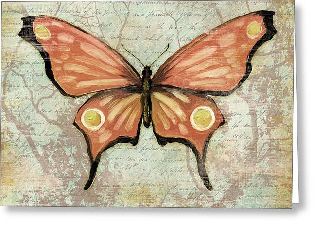 Monarch Greeting Cards - Vintage Butterfly I Greeting Card by Paul Brent