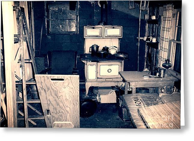 Cabin Interiors Digital Greeting Cards - Vintage Cabin Interior Greeting Card by Phil Perkins