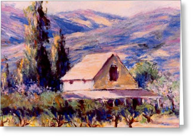Wine Tour Paintings Greeting Cards - Vintage California Greeting Card by J Michael Orr