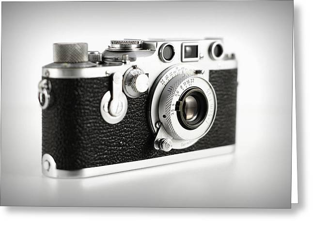 Aperture Greeting Cards - Vintage Camera Greeting Card by Chevy Fleet