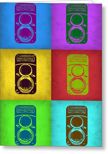 Old Camera Greeting Cards - Vintage Camera Pop Art 2 Greeting Card by Naxart Studio
