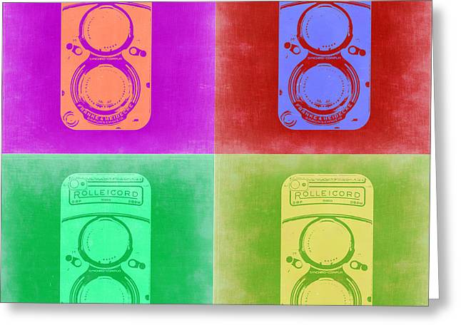 Vintage Camera Pop Art 3 Greeting Card by Naxart Studio