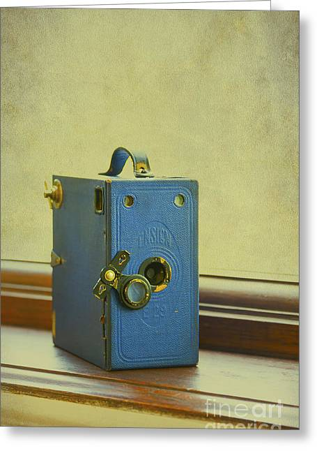 Old Relics Digital Greeting Cards - Vintage Camera Greeting Card by Svetlana Sewell