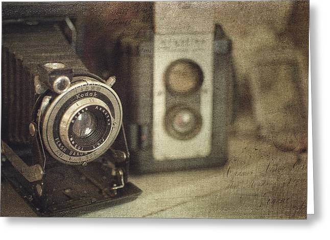 Kathy Jennings Fine Art Prints Greeting Cards - Vintage Cameras Greeting Card by Kathy Jennings