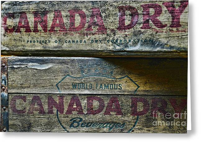 Dry Wood Greeting Cards - Vintage Canada Dry Greeting Card by Paul Ward