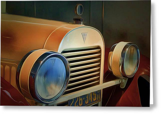 Old Town Digital Greeting Cards - Vintage Car 2 Greeting Card by Yury Malkov