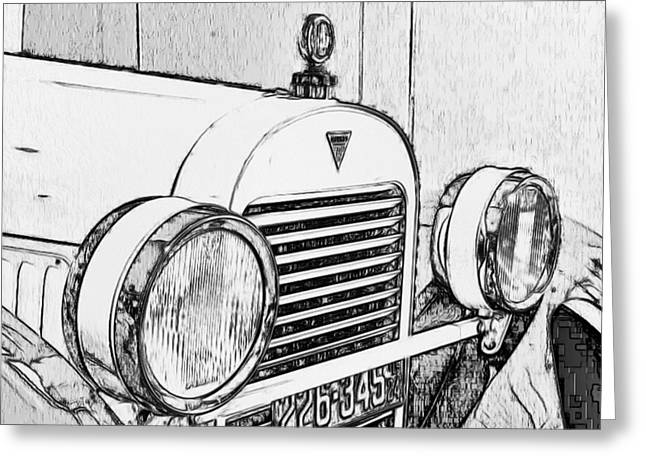 Old Town Digital Greeting Cards - Vintage Car 3 Greeting Card by Yury Malkov