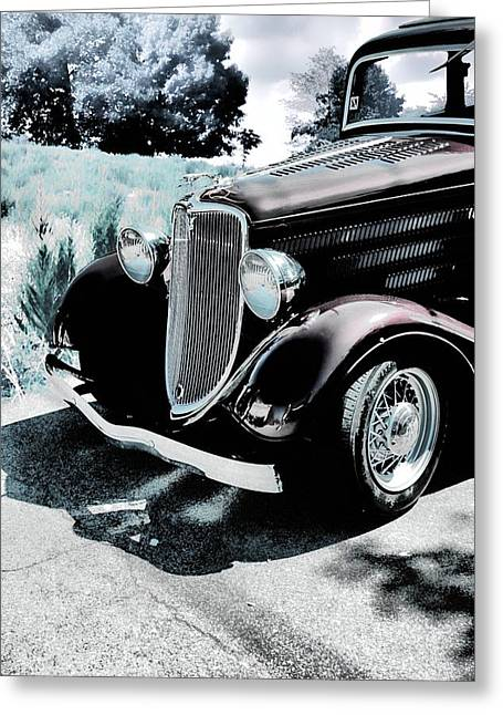 Automotive Greeting Cards - Vintage Ford Car Art 1 Greeting Card by Lesa Fine