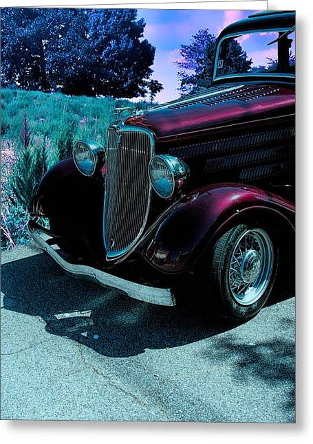 Ford Greeting Cards - Vintage Ford Car Art II Greeting Card by Lesa Fine