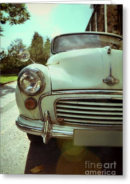 Old Roadway Greeting Cards - Vintage Car Greeting Card by Jill Battaglia