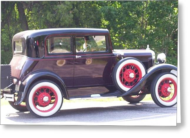 Kristine Bogdanovich Greeting Cards - Vintage Car Greeting Card by Kristine Bogdanovich