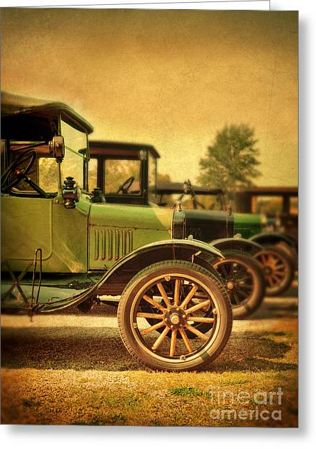 Ford Model T Car Greeting Cards - Vintage Cars Greeting Card by Jill Battaglia