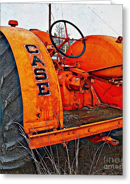 Enhanced Greeting Cards - Vintage Case Tractor 2 Greeting Card by Lisa  Telquist