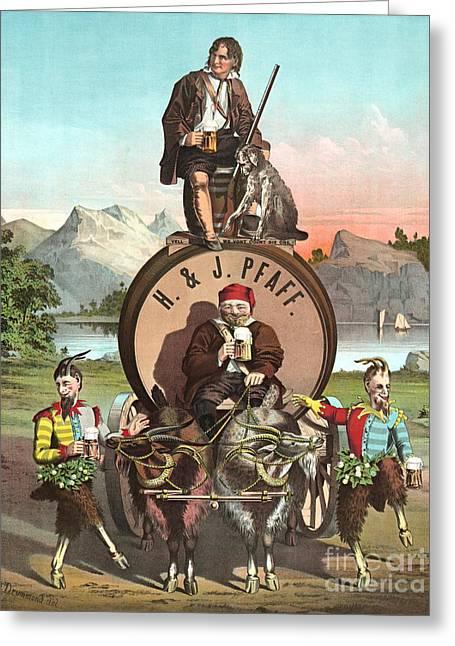 Endorsement Greeting Cards - Vintage Celebrity Endorsement 1870 Greeting Card by Padre Art