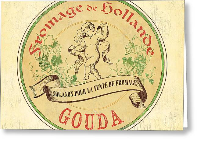 Vintage Cheese Label 2 Greeting Card by Debbie DeWitt