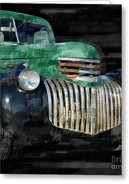 Classic Pickup Greeting Cards - Vintage Chevrolet Pickup 1 Greeting Card by Betty LaRue