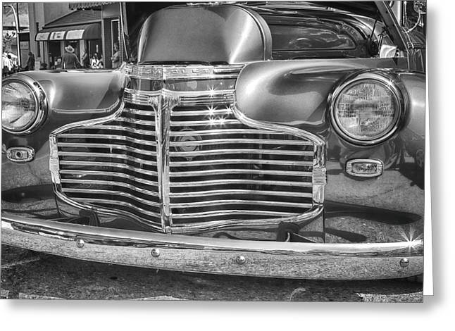 Delux Greeting Cards - Vintage Chevrolet Greeting Card by Theresa Tahara